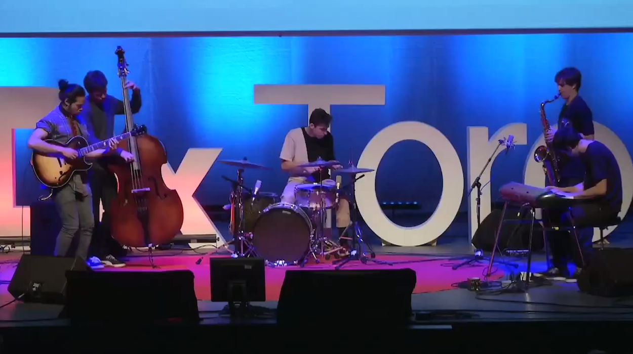 BADBADNOTGOOD Perform Flying Lotus' Putty Boy Strut at TEDxToronto