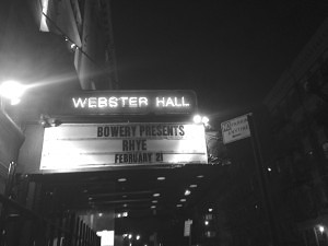 Rhye Live at Webster Hall